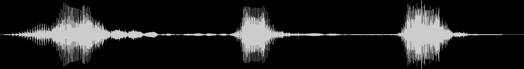 ラブラドールレトリバー:バーキング...の未再生の波形