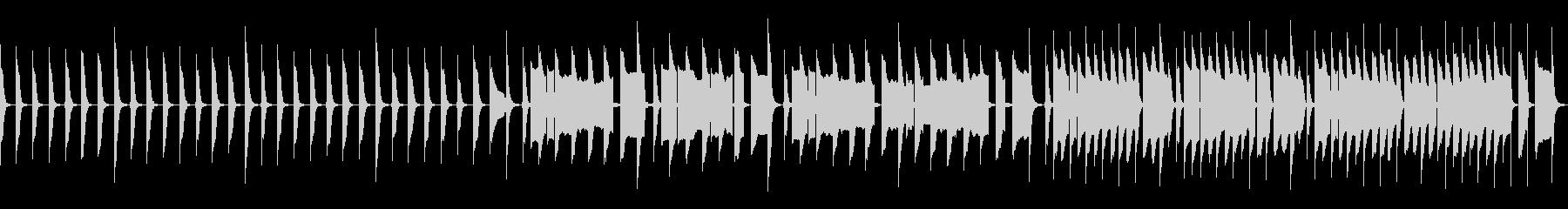 脱力なリコーダー練習の未再生の波形