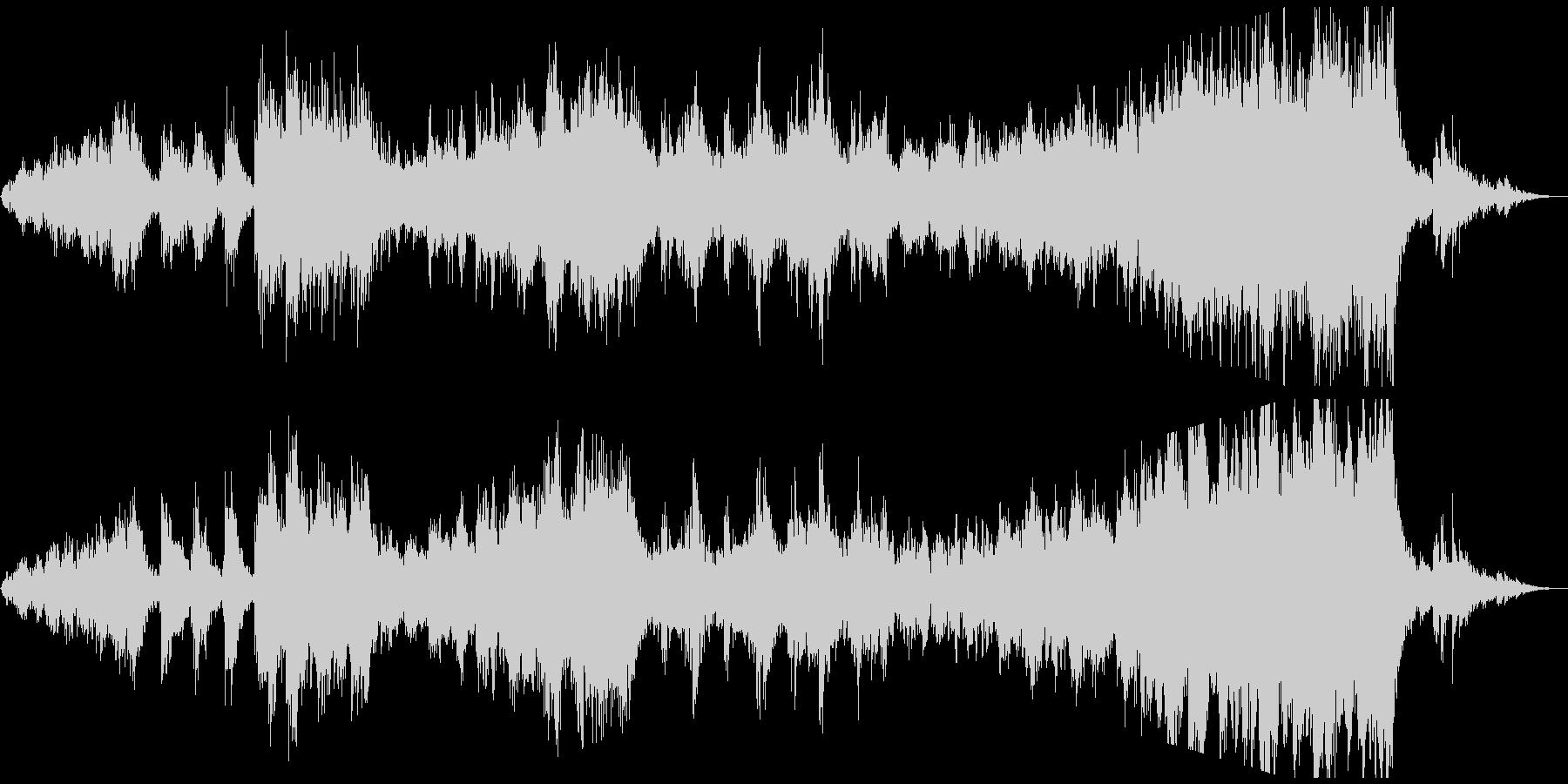 情緒的で切ないリズミックなアンビエント曲の未再生の波形