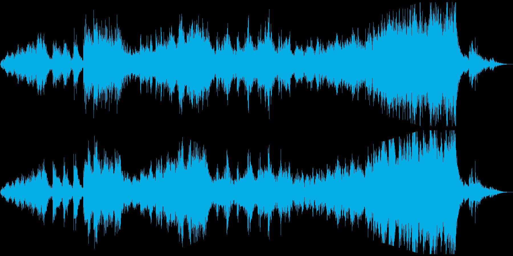 情緒的で切ないリズミックなアンビエント曲の再生済みの波形
