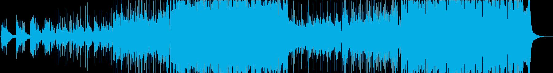 おしゃれなインストバンド系ピアノロックの再生済みの波形