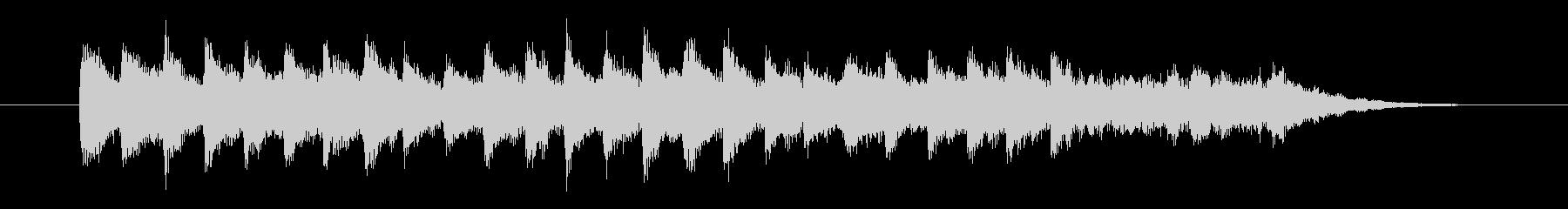 二度寝の気持ち良さを音楽で表現したBGMの未再生の波形