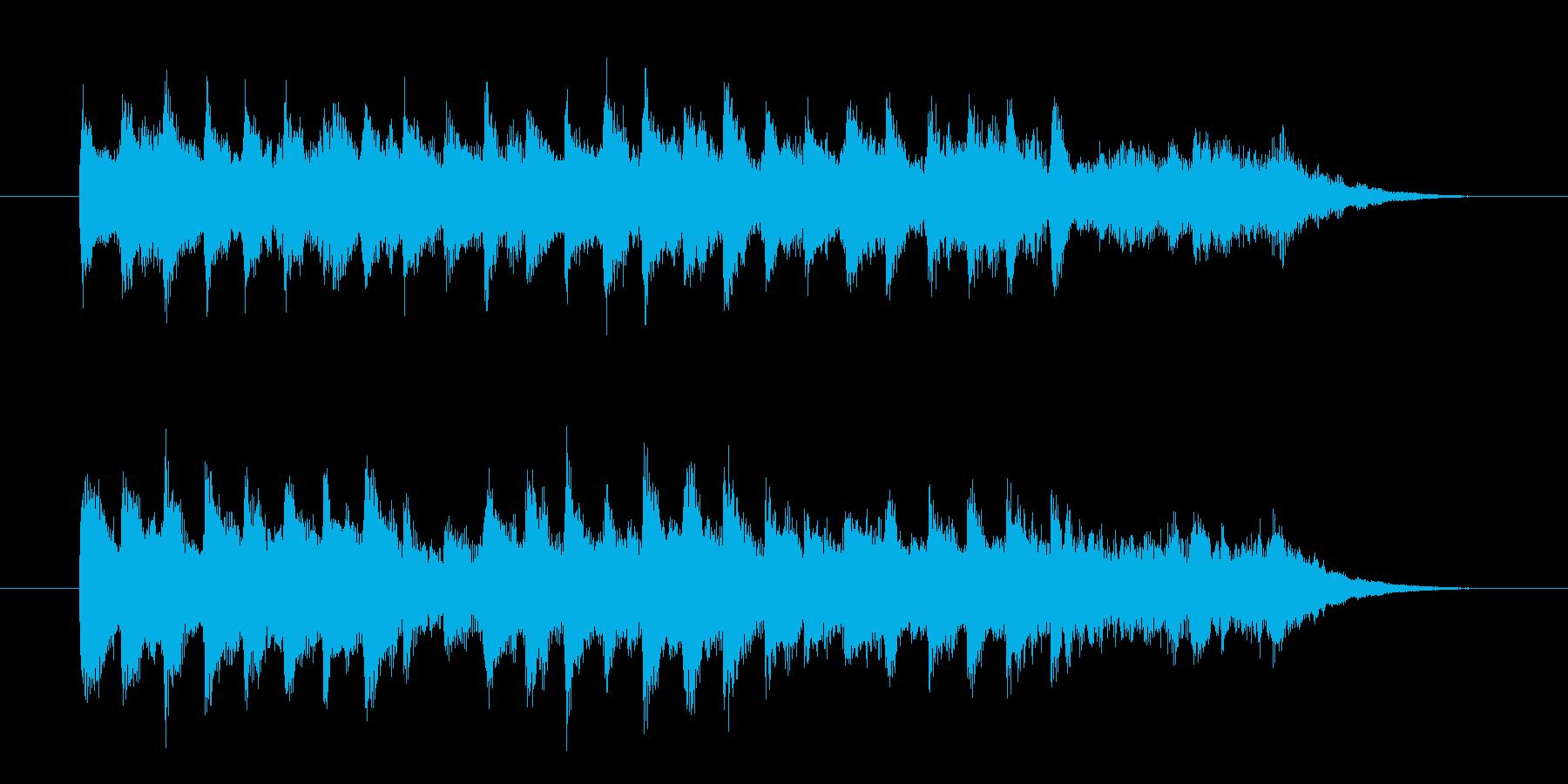二度寝の気持ち良さを音楽で表現したBGMの再生済みの波形