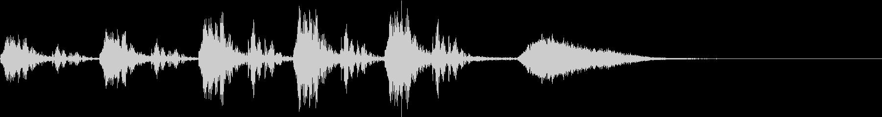 心臓の鼓動音とオーケストラ~失敗編~の未再生の波形