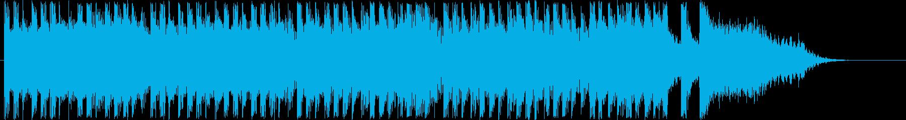 明るくはじけるシンセなど短めジングルの再生済みの波形