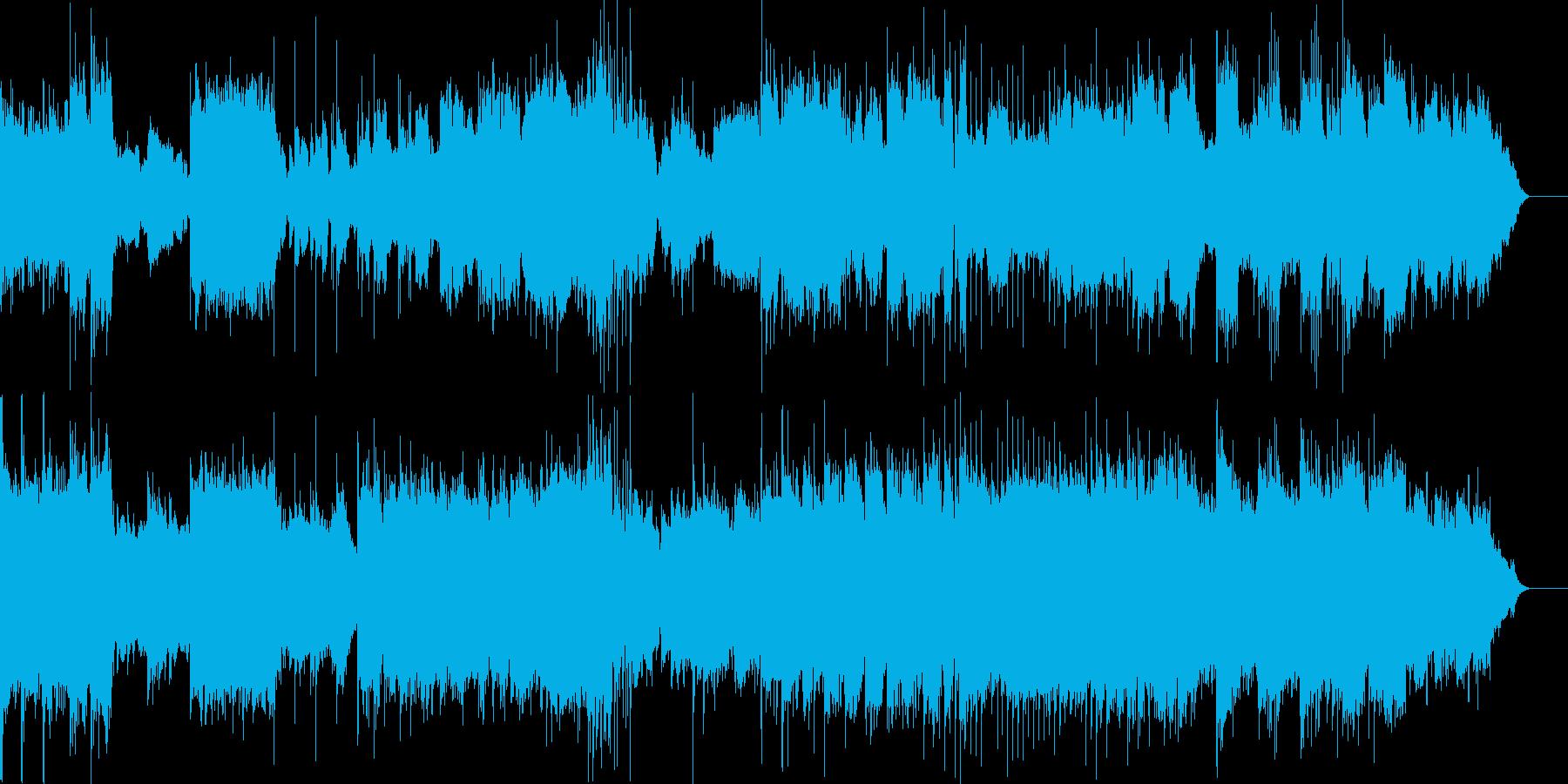 神社で舞う巫女を神秘的に表現した音楽。の再生済みの波形
