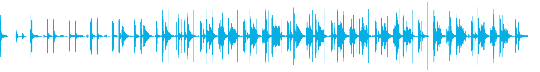 かっこいい系のアートソング 印象的の再生済みの波形