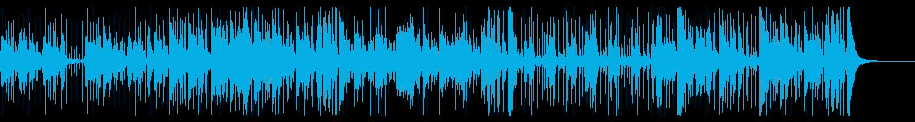 コントラバス、ジャズピアノ、ジャズドラムの再生済みの波形
