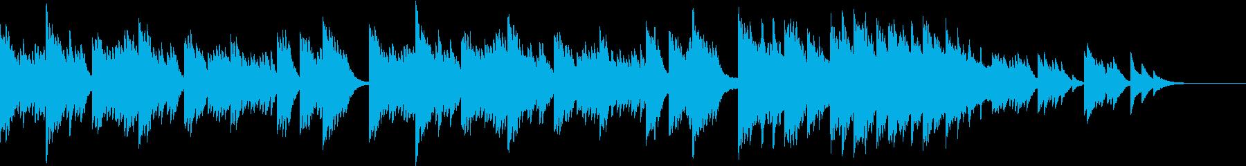 ほっと心が温まる優しいエレピの冬の曲の再生済みの波形
