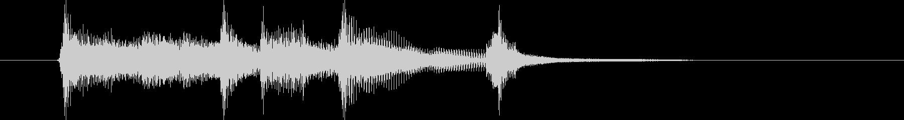 優しく透明感のある弦楽器シンセサウンドの未再生の波形