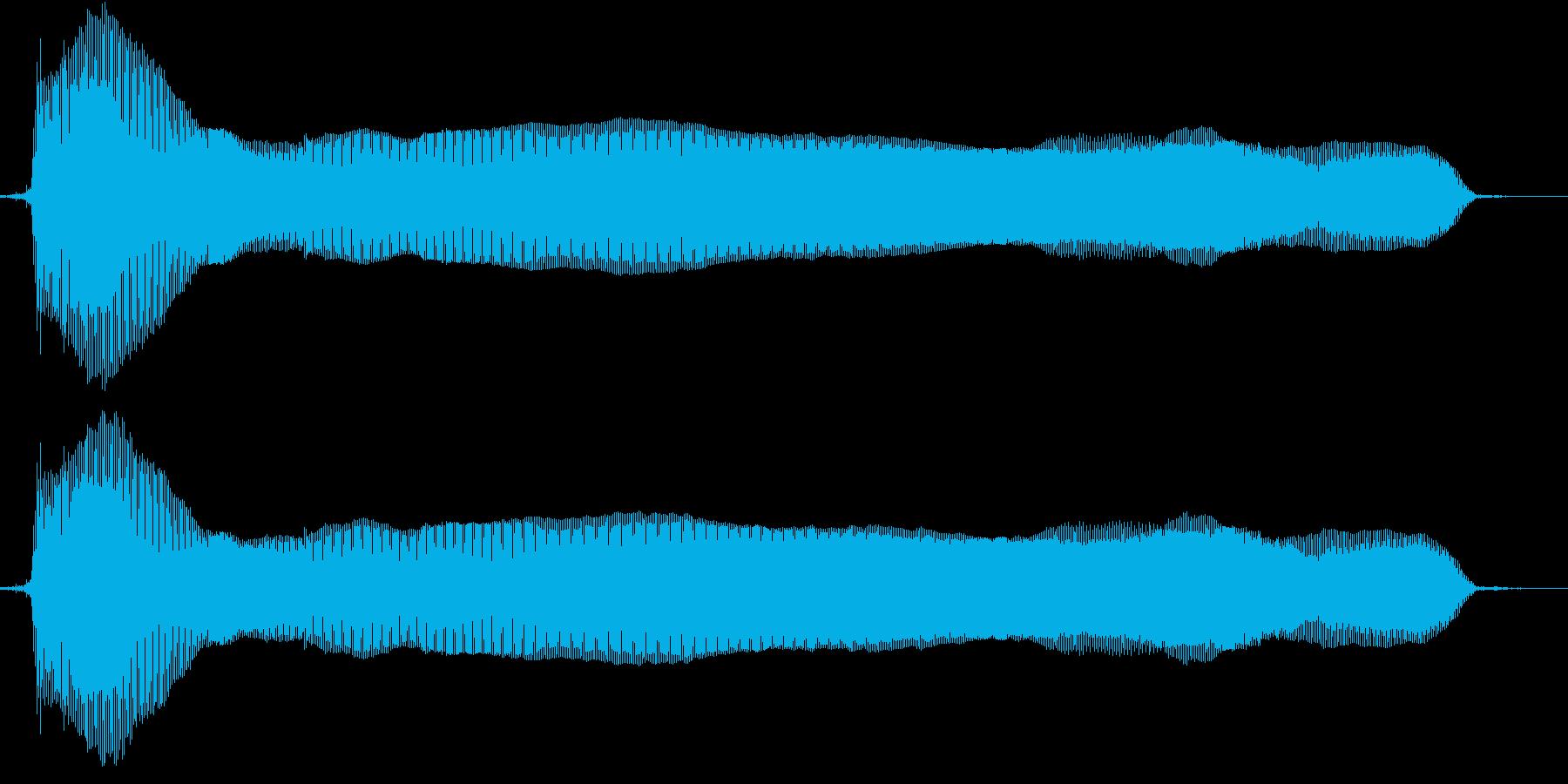 猫の鳴き声(甘えるような声 テイク2)の再生済みの波形