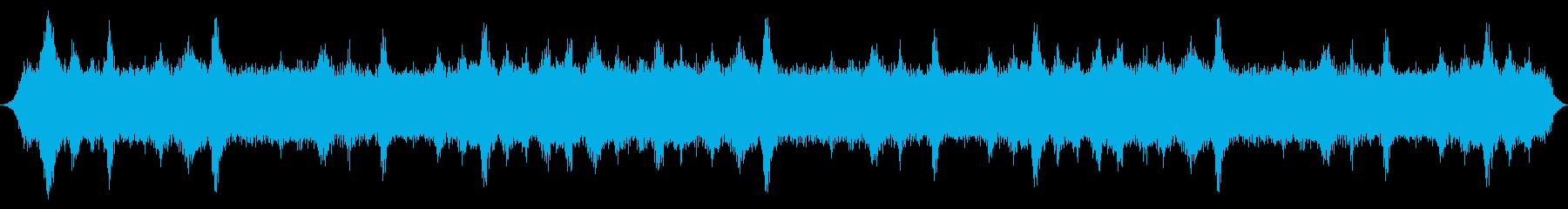 中風:柔らかい口Wで吹く突風の再生済みの波形