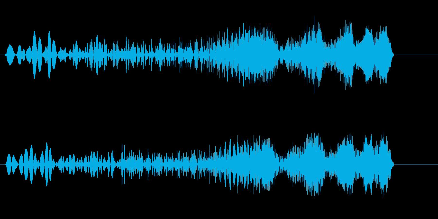 キュワーン(アップ系)高めの再生済みの波形