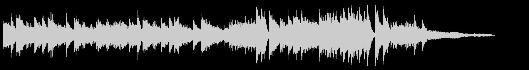 ウインターワンダーランドピアノジングルEの未再生の波形