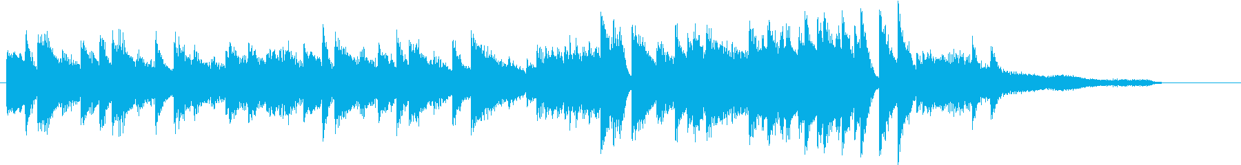 ウインターワンダーランドピアノジングルEの再生済みの波形