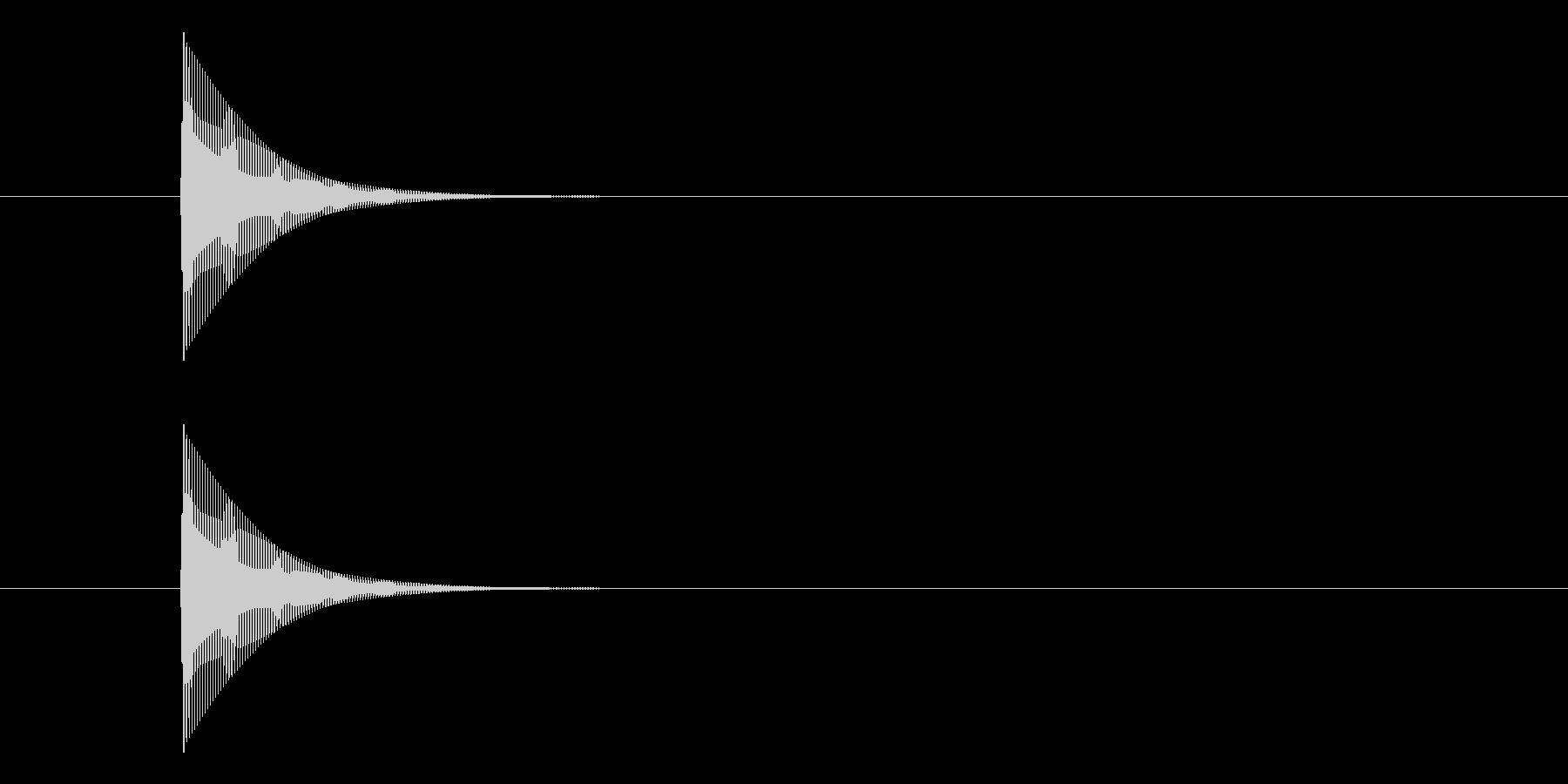 ポーン というシンプルな決定音になりますの未再生の波形