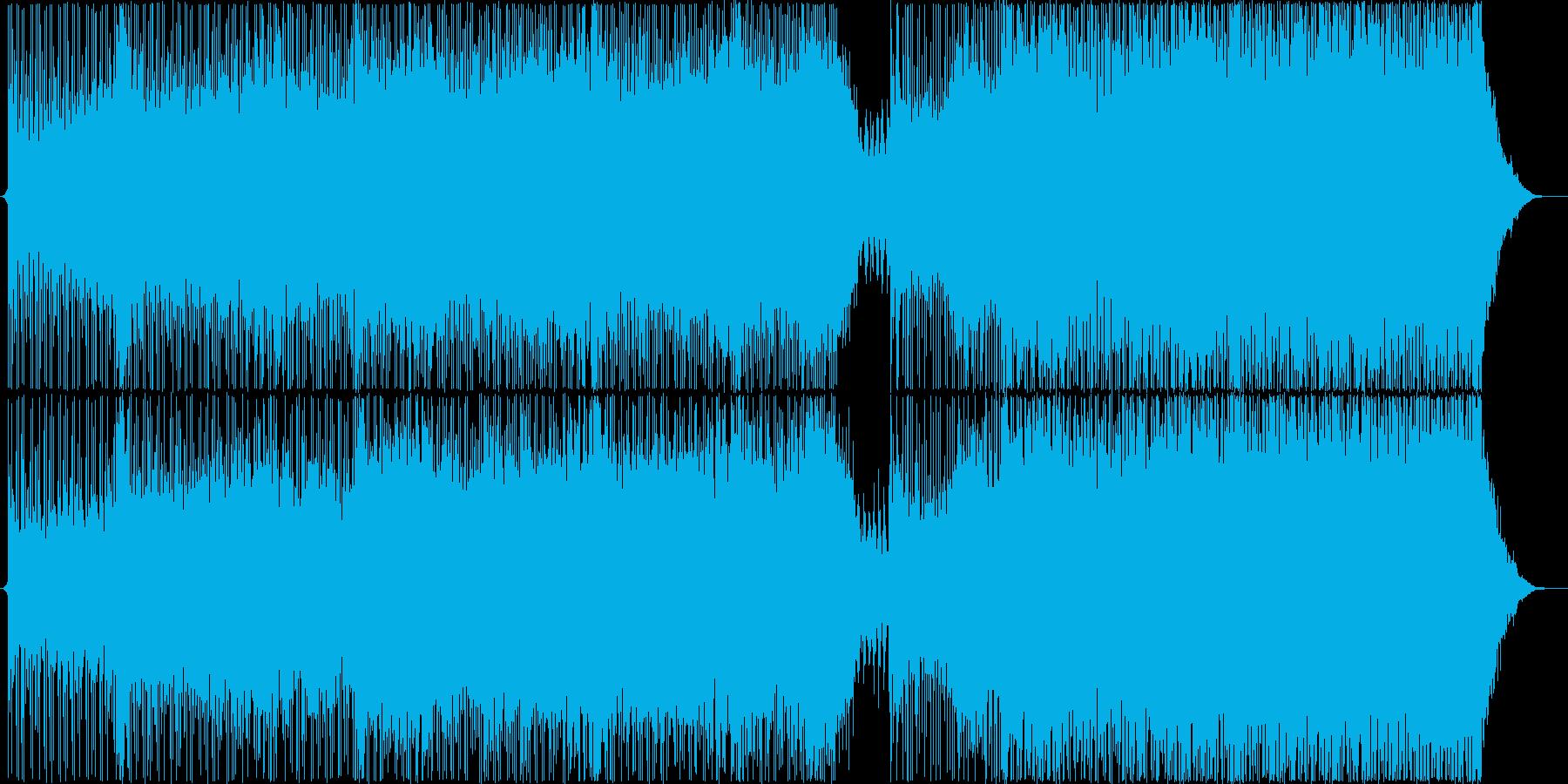 シリアスで疾走感あるテクノ系ビートの再生済みの波形