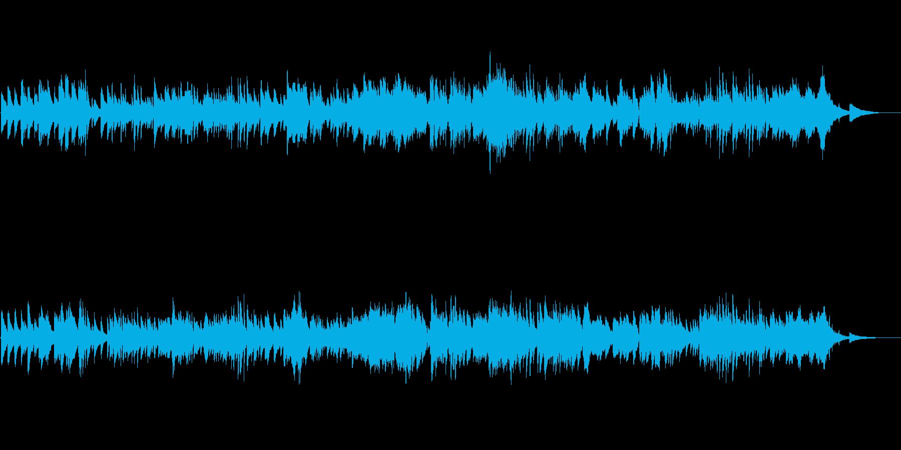 Mellow piano jazz waltz's reproduced waveform