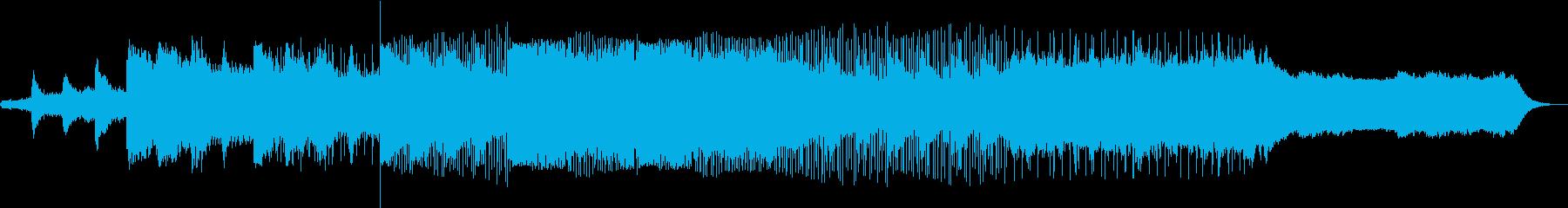 和をイメージした曲の再生済みの波形