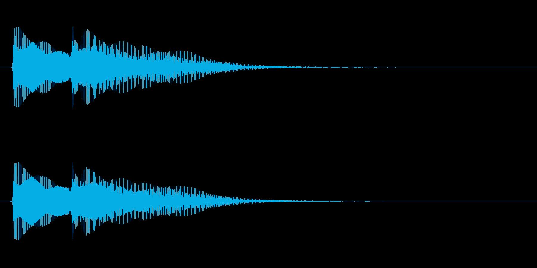 ピポン。デジタル音。の再生済みの波形