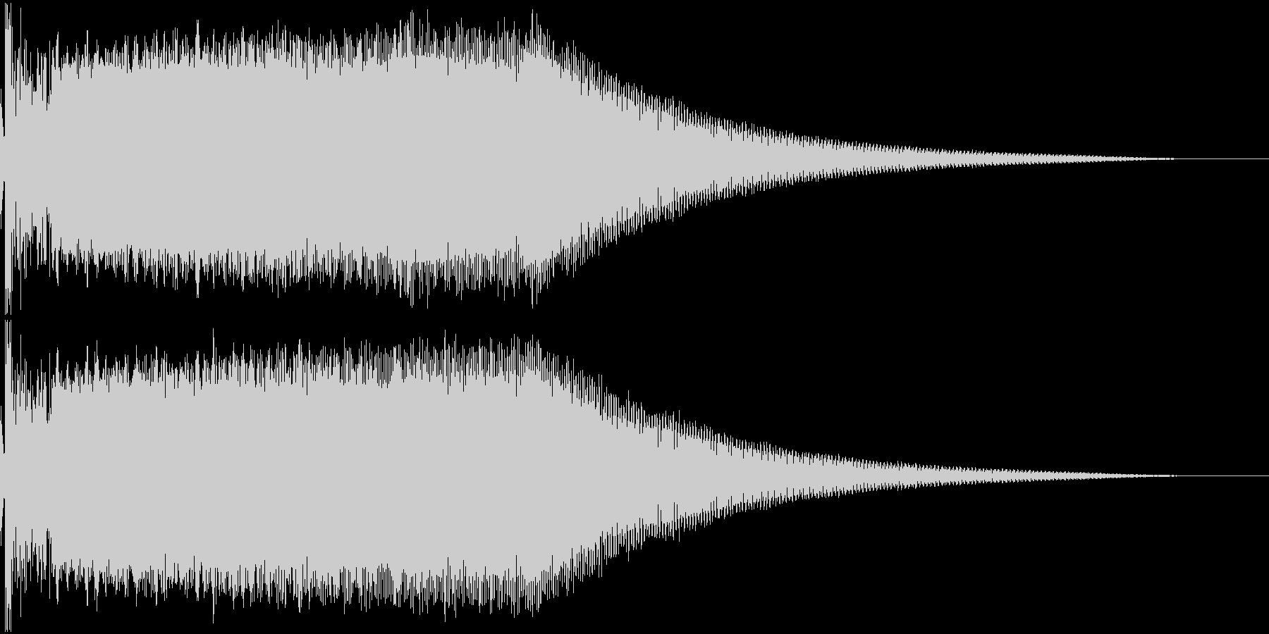 ビームライフル発射音 タイプ8の未再生の波形