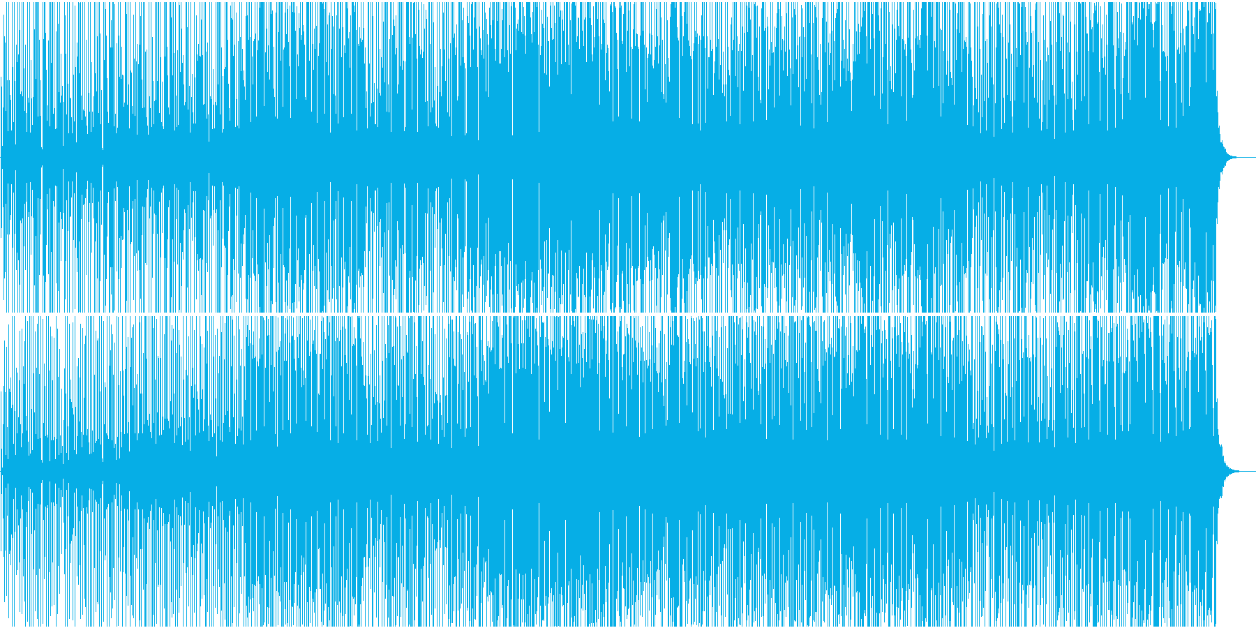 ミニマル・急いだ雰囲気・かわいいの再生済みの波形