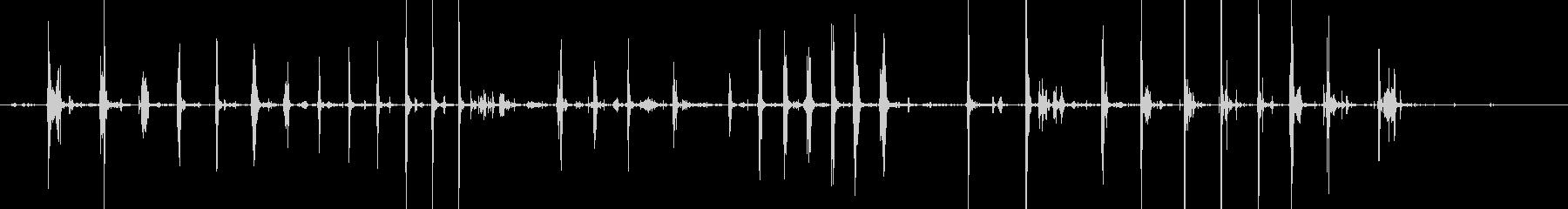ザッザッ…スコップで雪をすくう(雪掻き)の未再生の波形