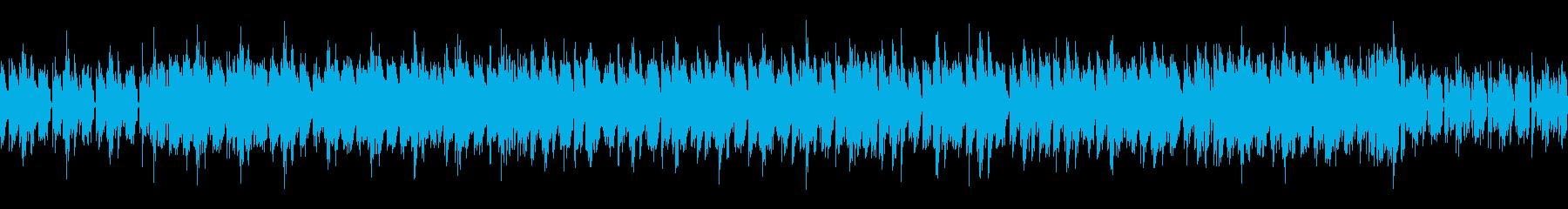 疾走感と緊迫感のあるループ対応BGMの再生済みの波形