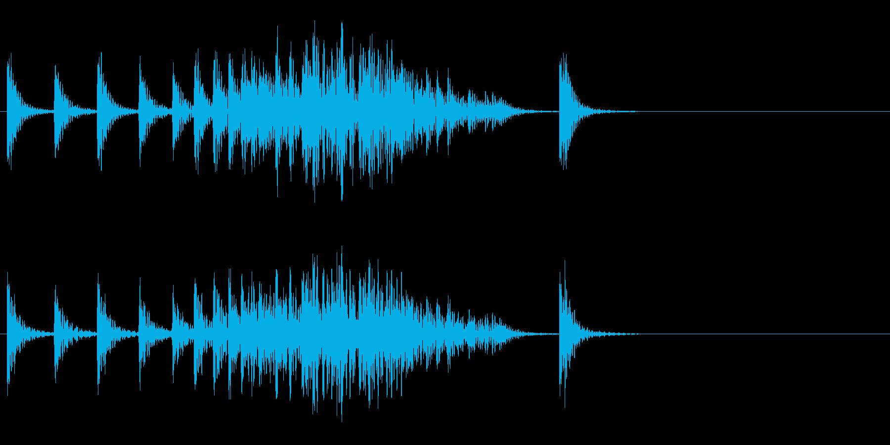 段々早くなる和太鼓の再生済みの波形