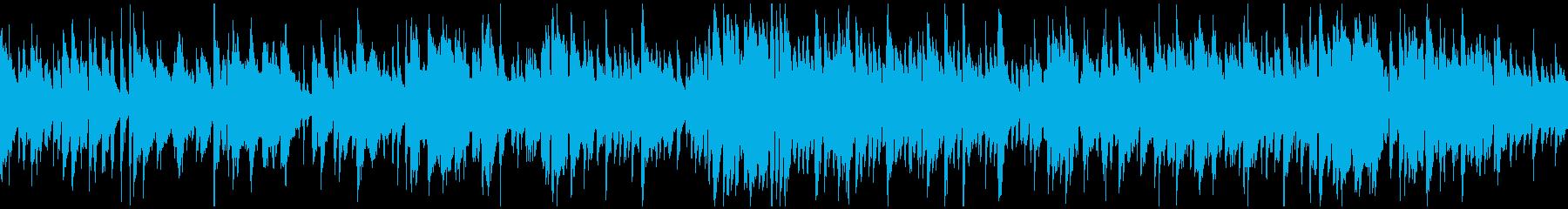 柔らかボサノバ、暖かい太い音色※ループ版の再生済みの波形