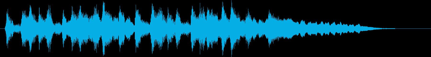 おしゃれなボサノバ調のジングルの再生済みの波形