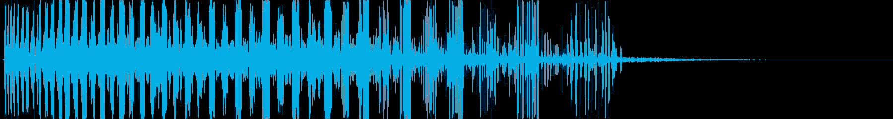レーザースウィープバージョン1の再生済みの波形