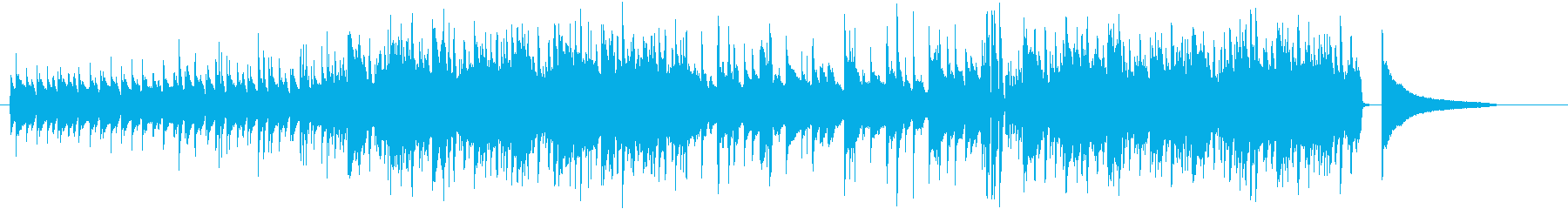 ゆったりしたアコギの日常系BGMの再生済みの波形