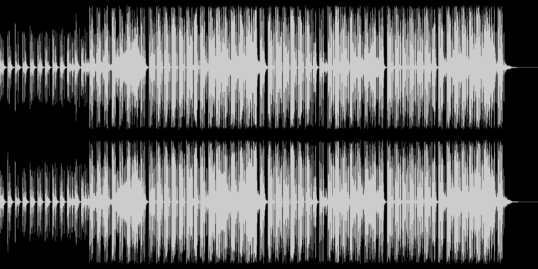 シンセ音の爽快感あるポップスの未再生の波形