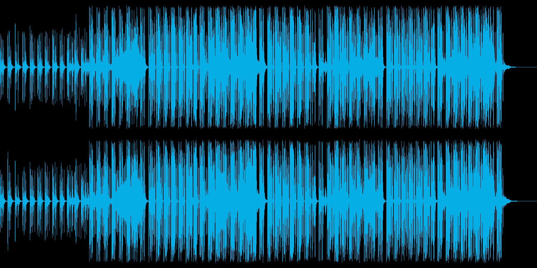 シンセ音の爽快感あるポップスの再生済みの波形