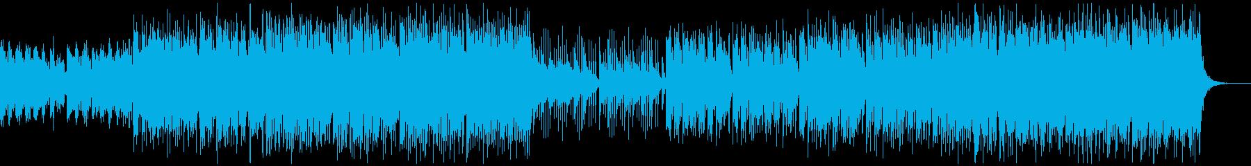 明るくアップテンポな和風曲の再生済みの波形