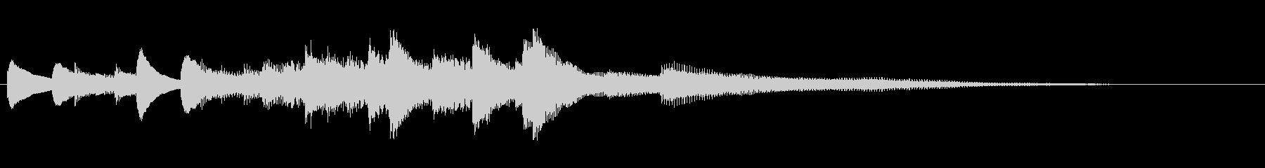 明るく前向きなピアノジングルの未再生の波形