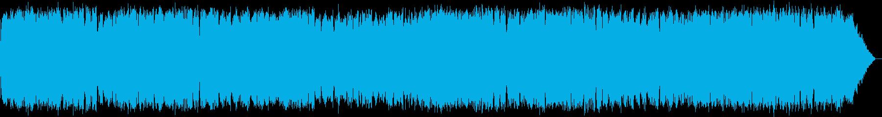 浮遊感のある竹笛のヒーリング音楽の再生済みの波形