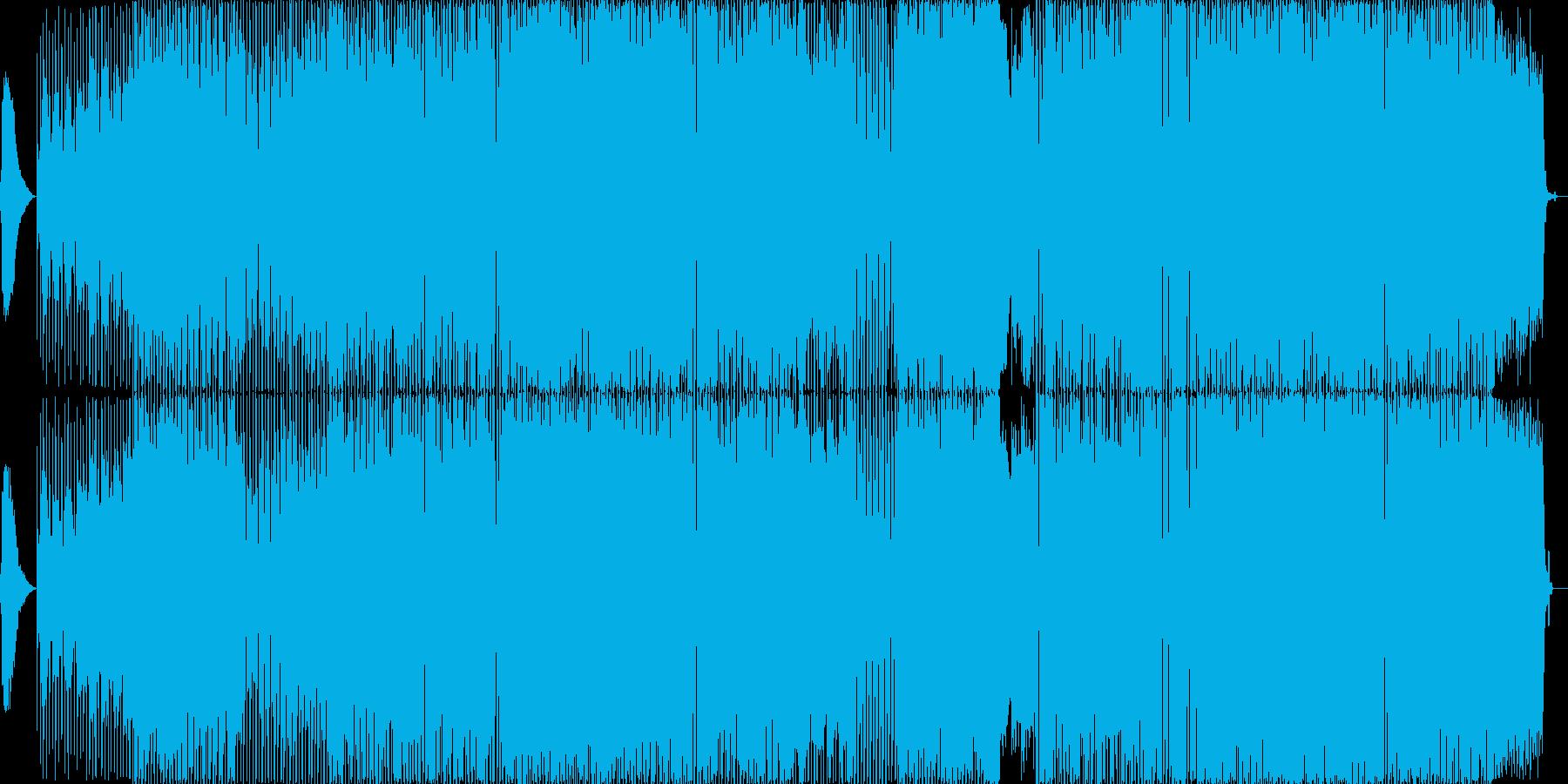 アンビエントなゆったり4つ打ち。生演奏の再生済みの波形