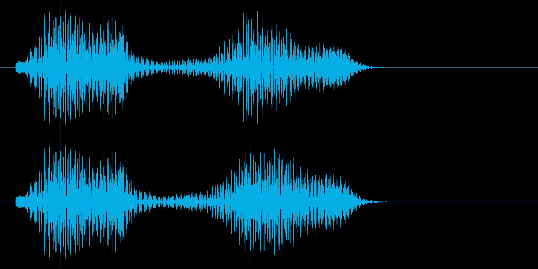 ポロン、ポーン(キャンセル、NG等)の再生済みの波形