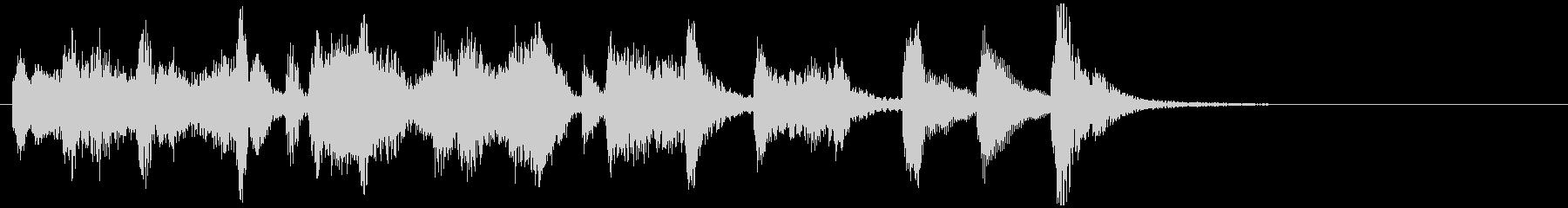 のほほんジングル029_のんびり-3の未再生の波形