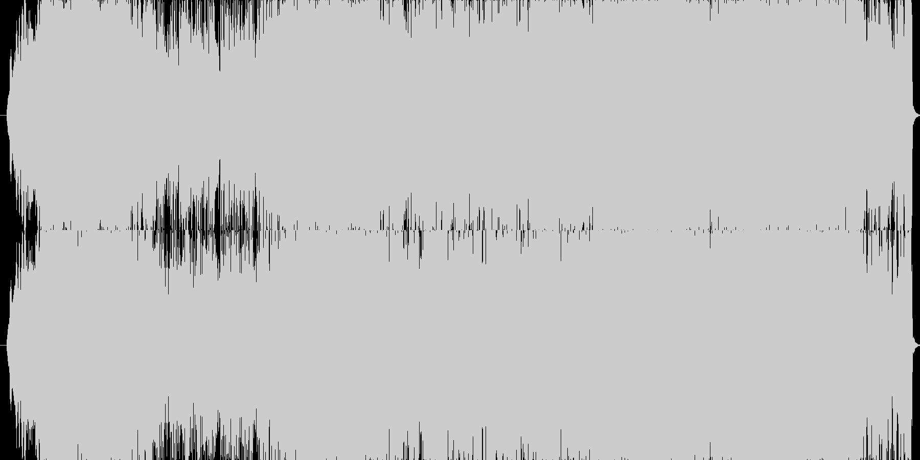 ミステリアスで疾走感のあるサウンドの未再生の波形