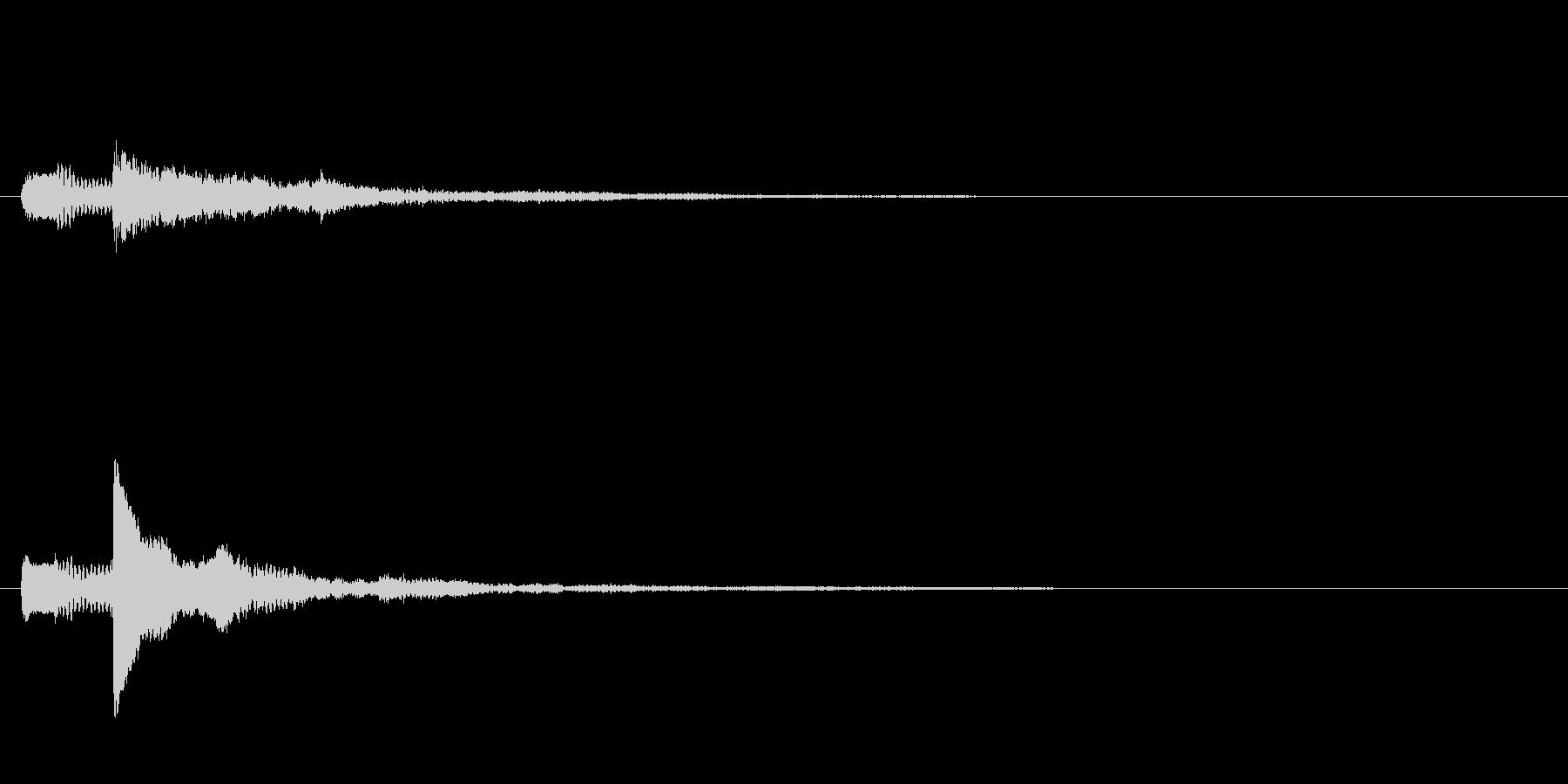 ピアノのワンショット効果音03の未再生の波形