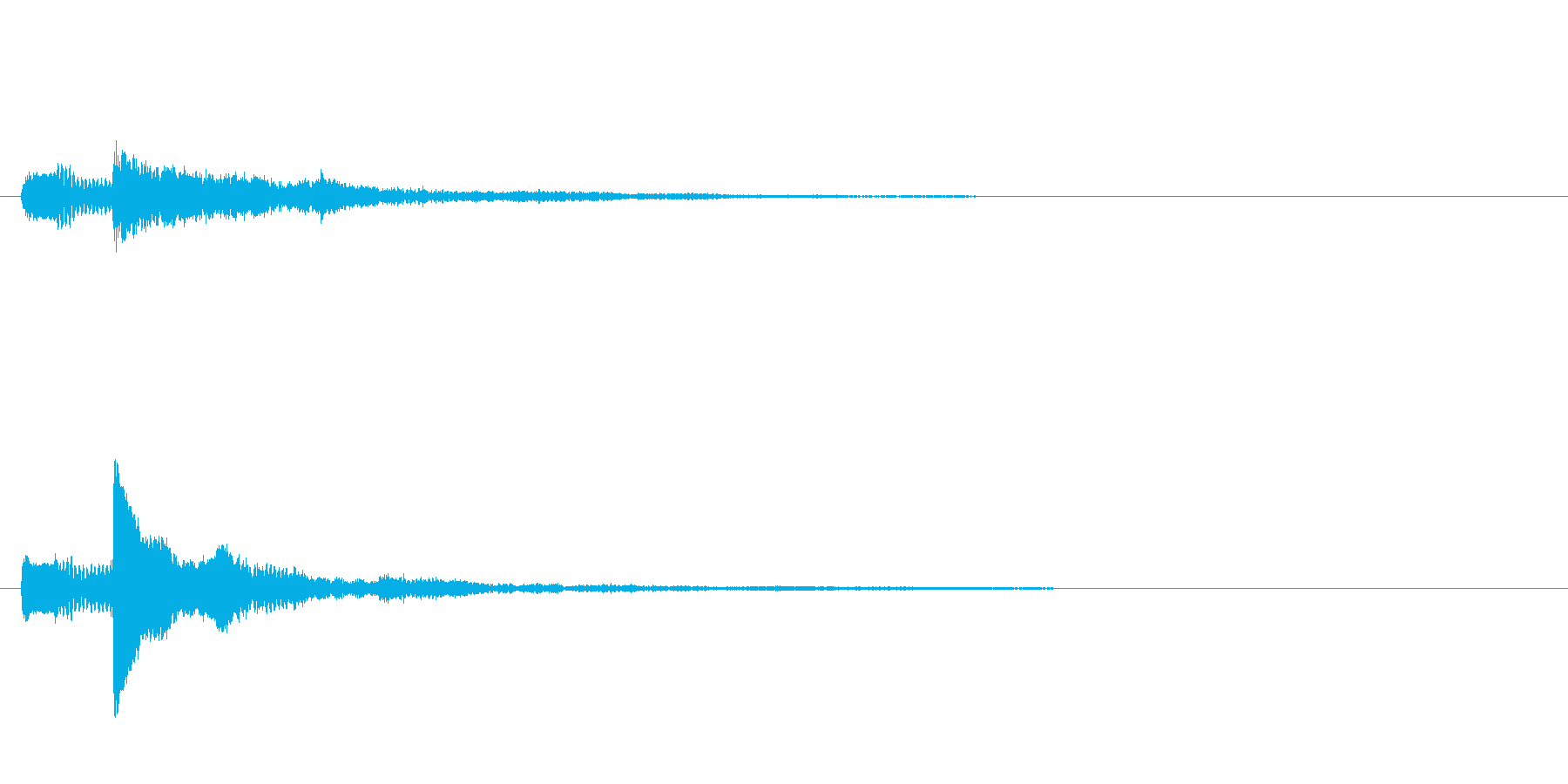 ピアノのワンショット効果音03の再生済みの波形