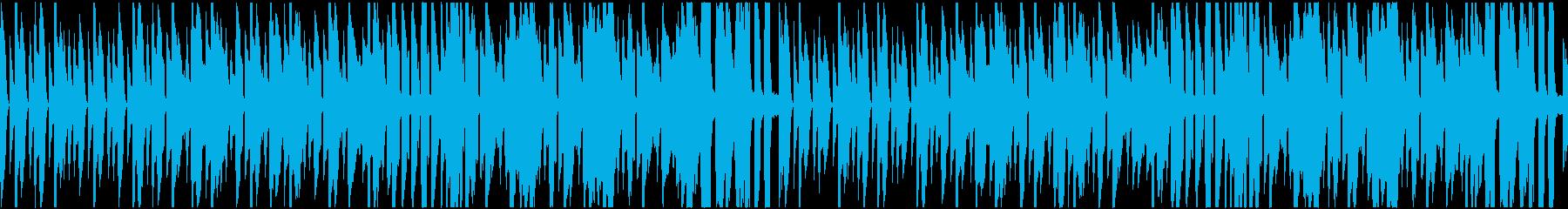 ほのぼのとした日常を表現した曲の再生済みの波形