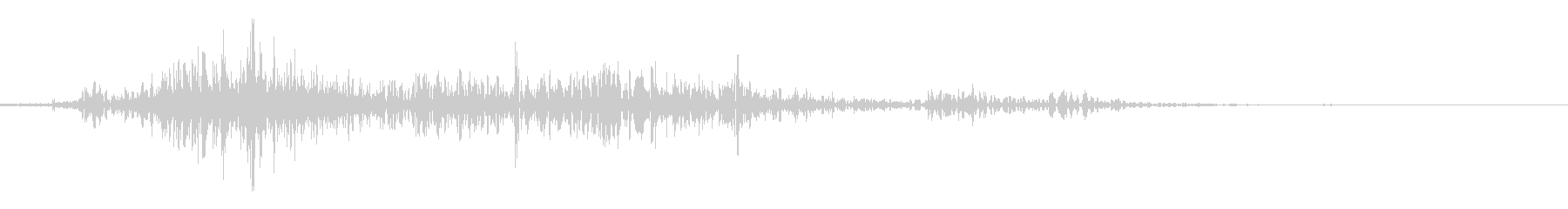 ペラッ(上質な本のページをめくる音の未再生の波形