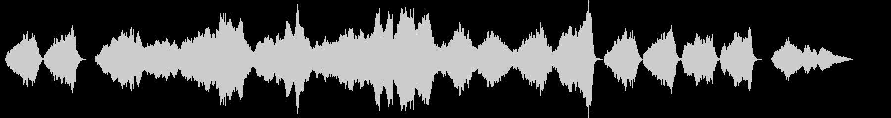 オーケストラ 悲しみにくれる曲 弦本格的の未再生の波形