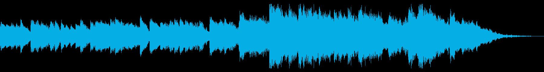 ピアノの旋律が悲しいゲームオーバー風の再生済みの波形