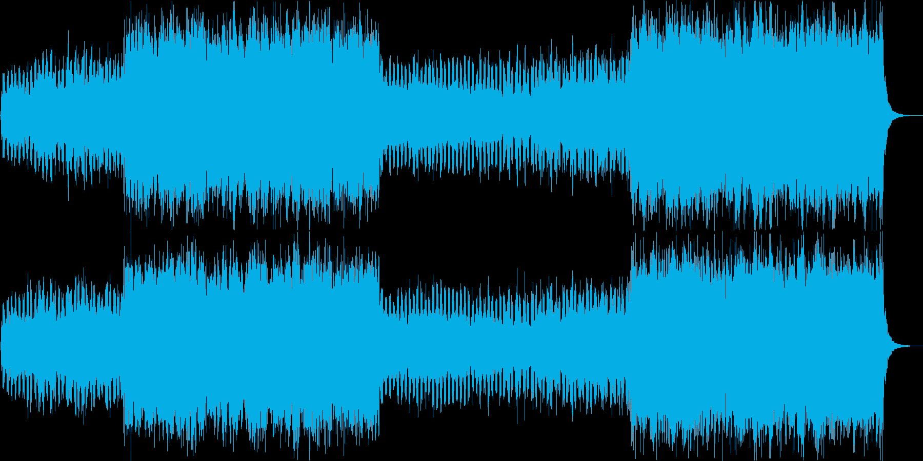 シンセとボイスチョップのCM向けハウスの再生済みの波形