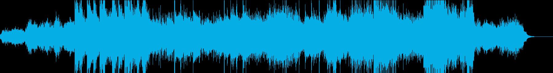 ストリングスとガムランのスローな南国風の再生済みの波形